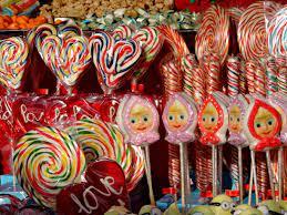 フリー写真画像: キャンディ, カラフルです, 心, ショップ, お菓子の森, 装飾, 砂糖, 色